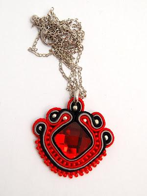 naszyjnik wisior sutasz soutache pendant necklace 36