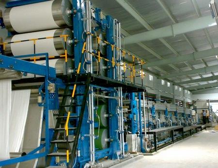 Chemical means of finishing by mercerizing machine
