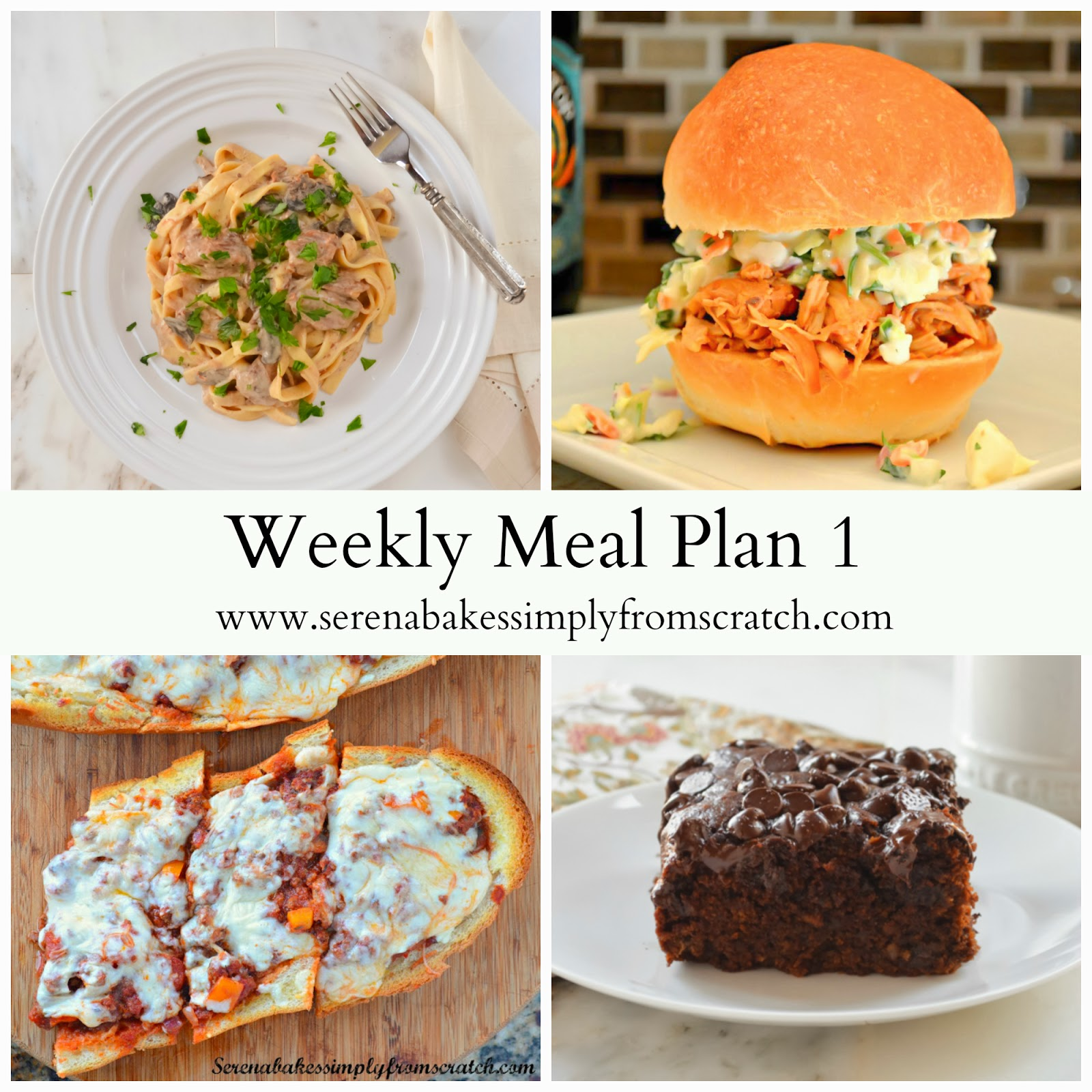 Weekly Meal Plan to help feed your family| Serena Bakes Simply From Scratch #Menu #Recipe #Dinner