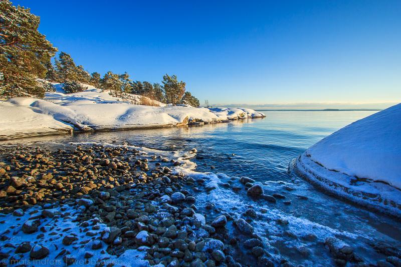 Dagen innan isen lade sig runt Gålö i Stockholms skärgård.