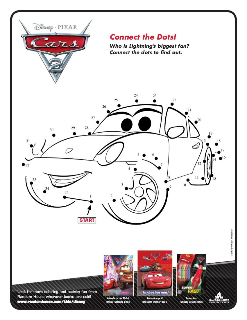 Disney Love: Fichas de colorear y de actividades de Cars