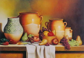 Bodegones de Frutas y Flores Colombianas Pinturas