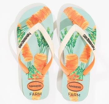 Farm havaianas estampa cenoura acessórios de verão 2016