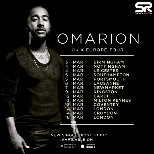 Omarion European and UK Tour Dates