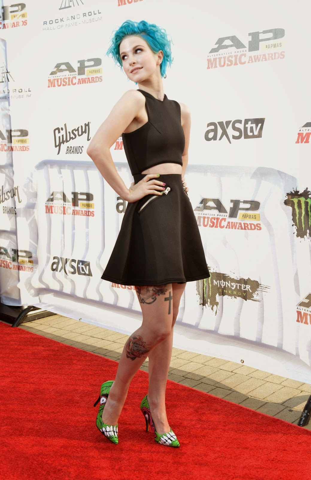 Hayley Williams flaunts a punk rock style at the 2014 Alternative Press Music Awards