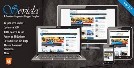 Sevida Themeforest Responsive Magazine Blogger Template