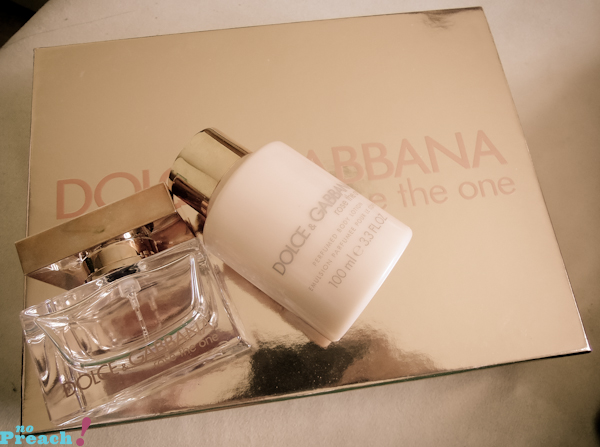 Dolce & Gabbana Rose the One - Kit para presente comprado na loja Harrods em Londres
