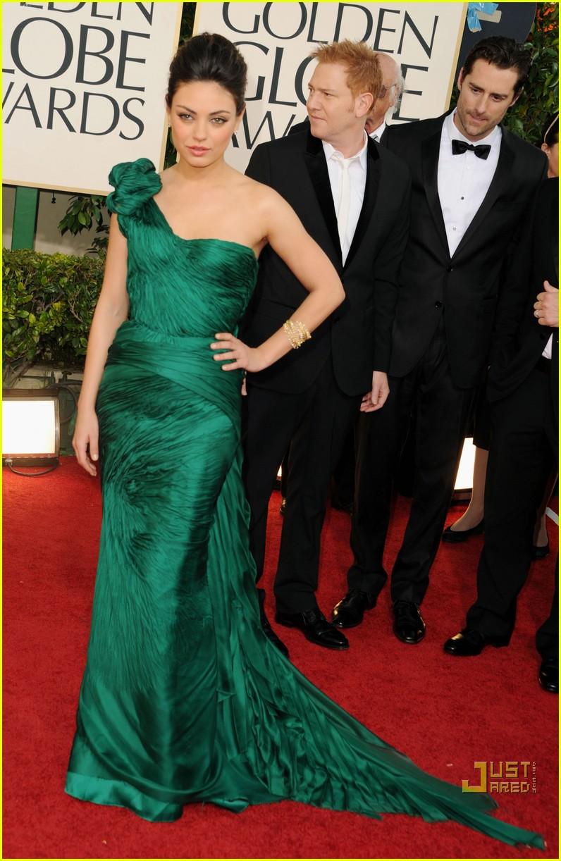 Vestido verde accesorios