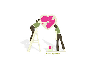 Paint My Love Love Wallpaper