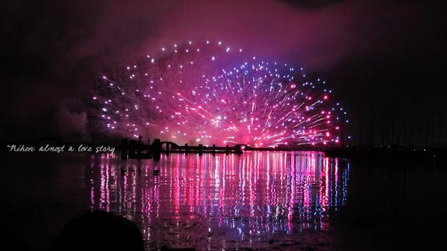 Fuochi d'artificio sul lago Biwa