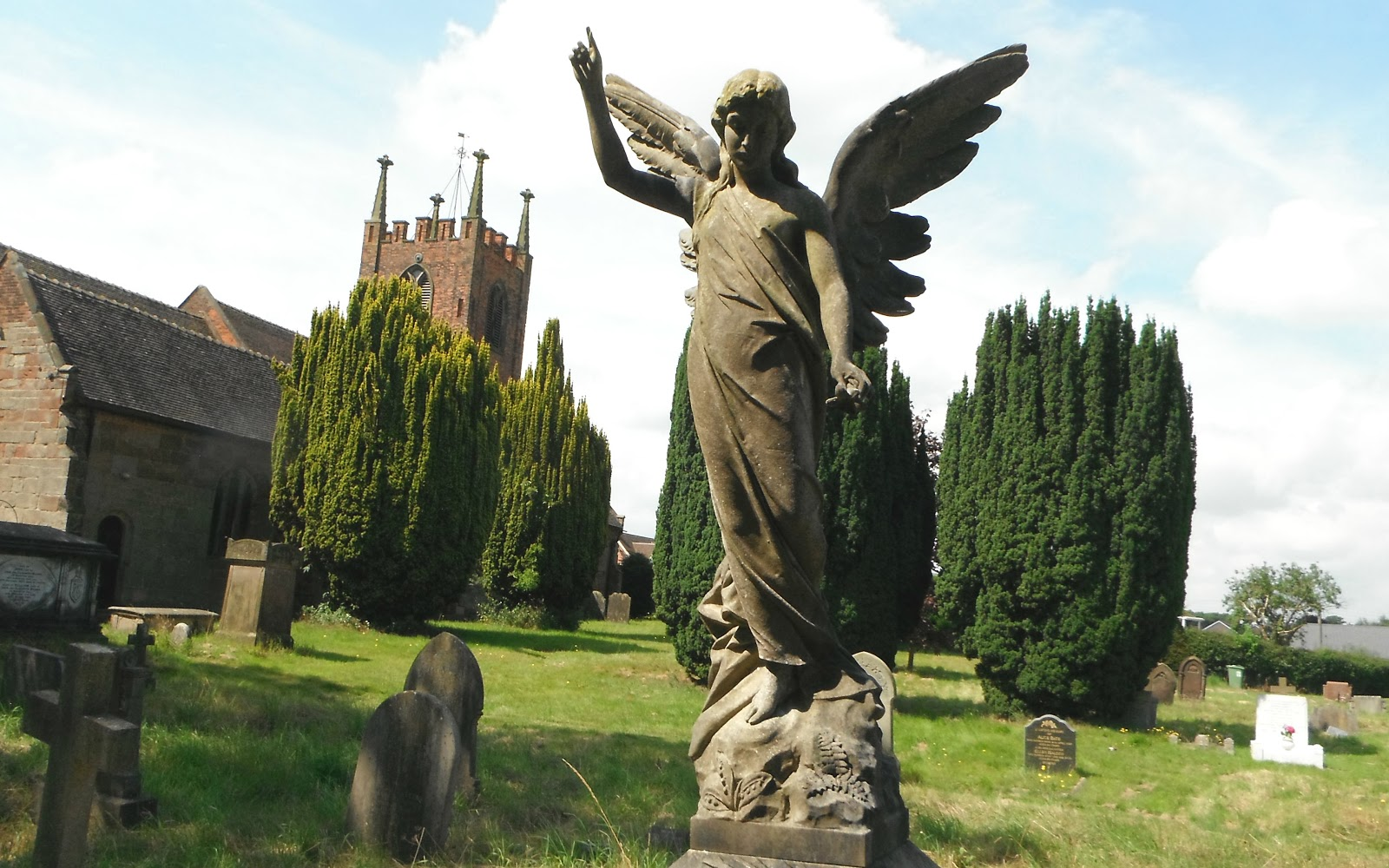 Churchyard angel at Seighford
