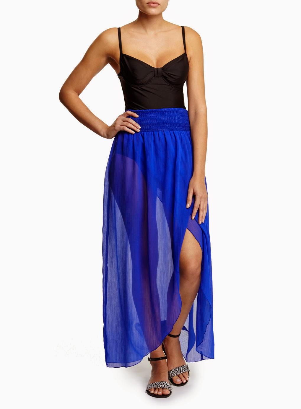 Cobalt Sarong Skirt