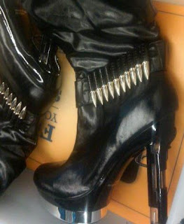 Boots with bullets.