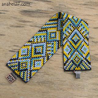 купить украшение из бисера этника орнамент анабель