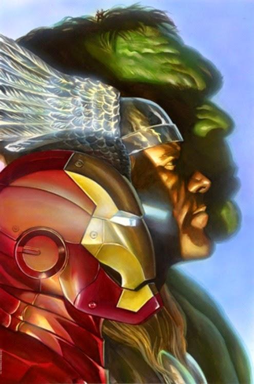 Iron Man, Thor y Hulk por Alex Ross