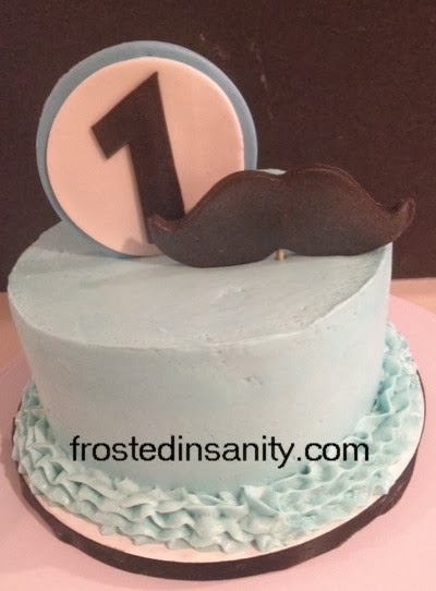 Frosted Insanity Little Mr Man smash cake and mustache cake pops