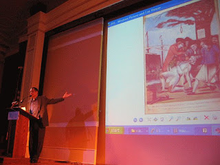 Eric Ferrara lecturing at the New York Historical Society