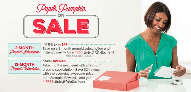 Paper Pumpkin Prepaid Subscription Sale-A-Bration SAB