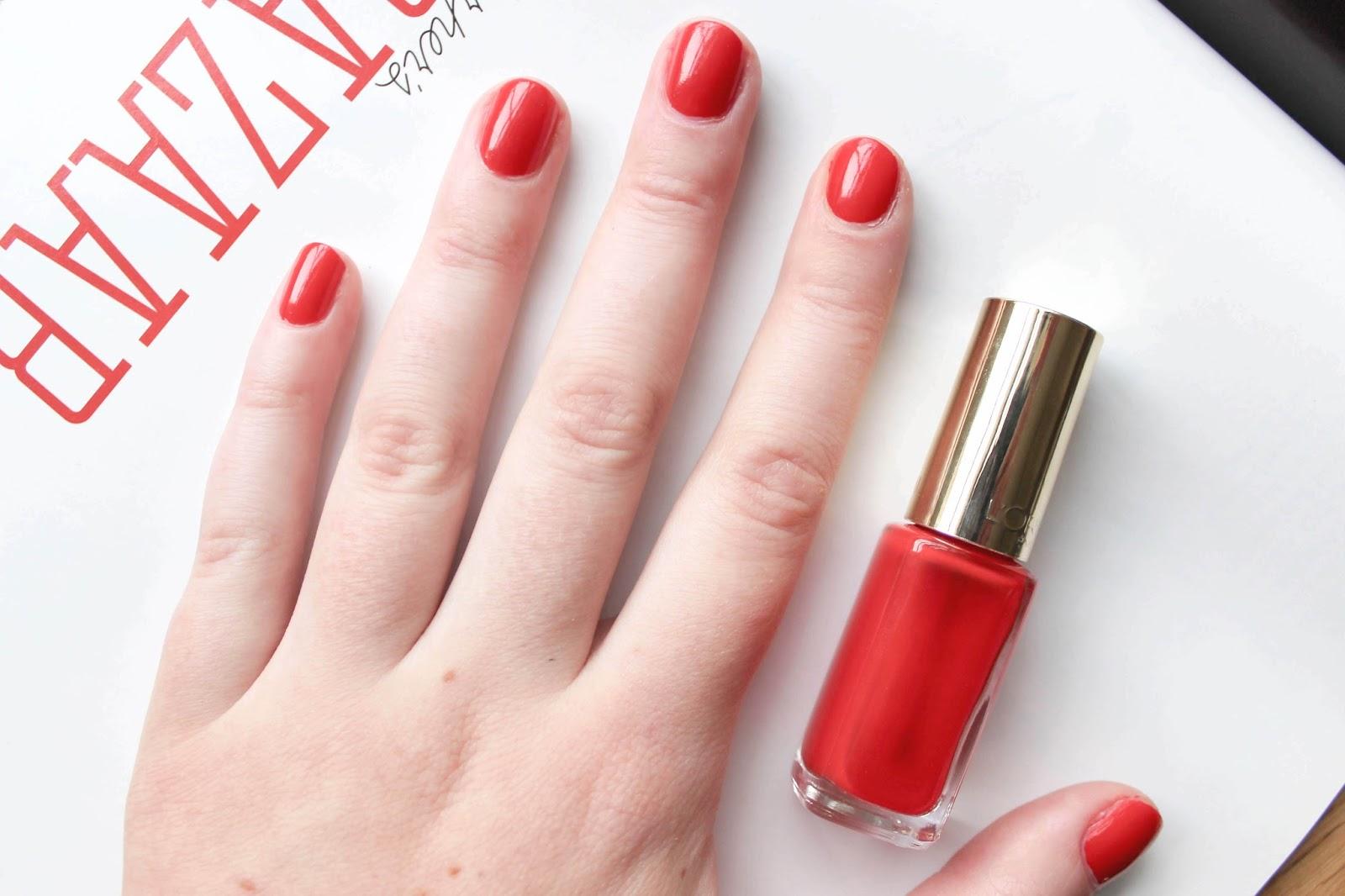 L\'Oréal Color Riche Nail Polish in Exquisite Scarlet | A Little Soapbox