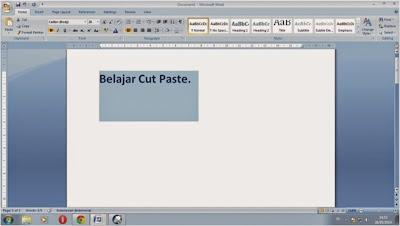 copy, cut dan paste dalam microsoft word