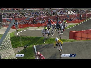 BMX competition in action