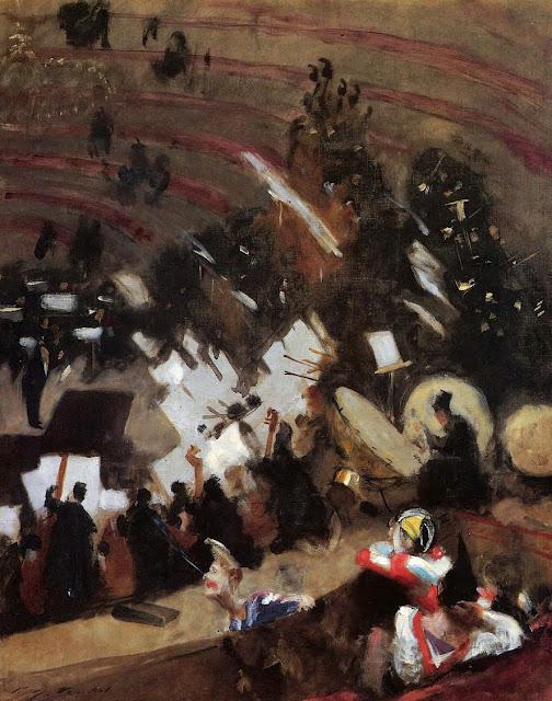 orchestra,sargent, impressionism