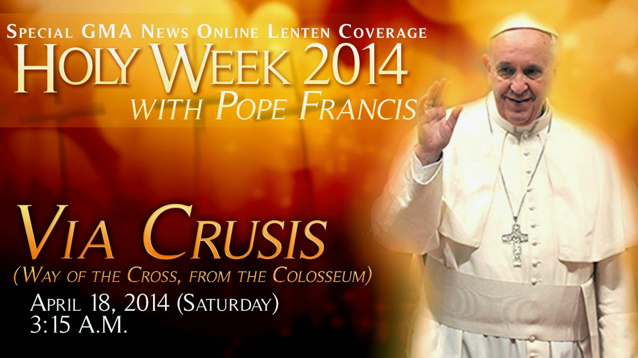 REPLAY: Livestream: Via Crusis (Way of the Cross, from the Colosseum)