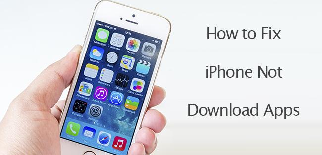 fix iPhone not download Apps fix