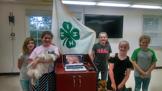 Oconee County Bark Buddies 4H Group visits with Audrey and Laurel via Skype