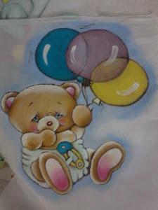 Pintura em tecido para bebê que vai nascer ainda....