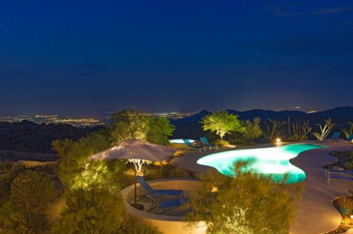 swimming pool of patricia gucci california mansion house property in desert