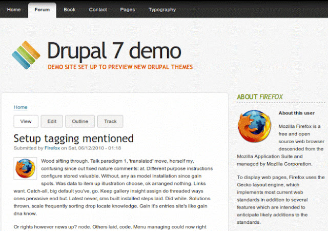 "The template for Drupal ""Corolla"""