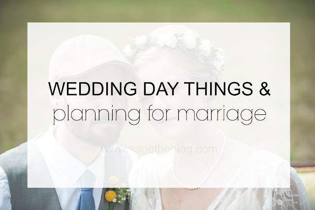 wedding day things & planning for marriage