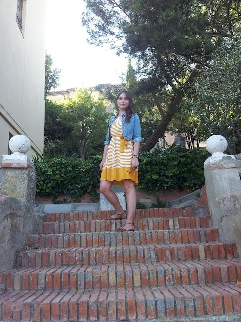 Vestido de lavand de rayas tendencia del verano en Barbastro