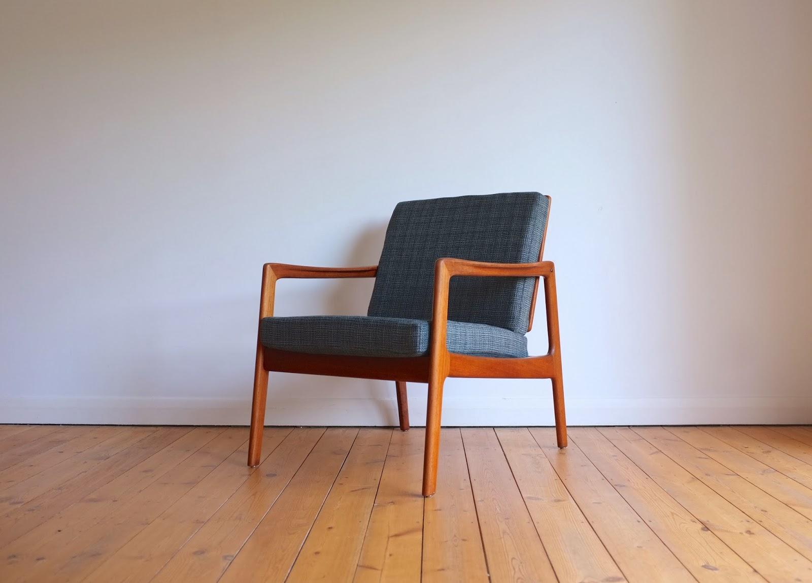 antikmodern the shop danish lounge chair