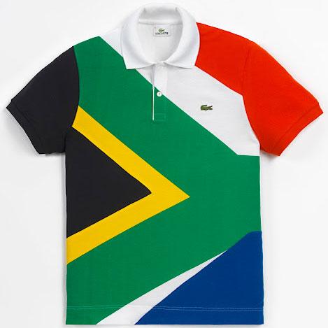 polo bandera de Sudáfrica