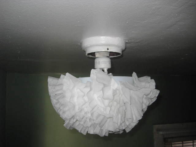 miss ratty catty coffee filter ceiling light cover. Black Bedroom Furniture Sets. Home Design Ideas