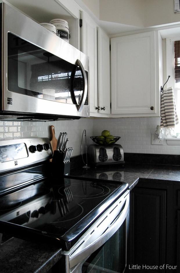 smart tile backsplash little house of four kitchen update smart