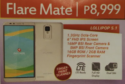 Cherry Mobile Flare Mate, 6-inch FHD Octa Core Phablet with Fingerprint Scanner