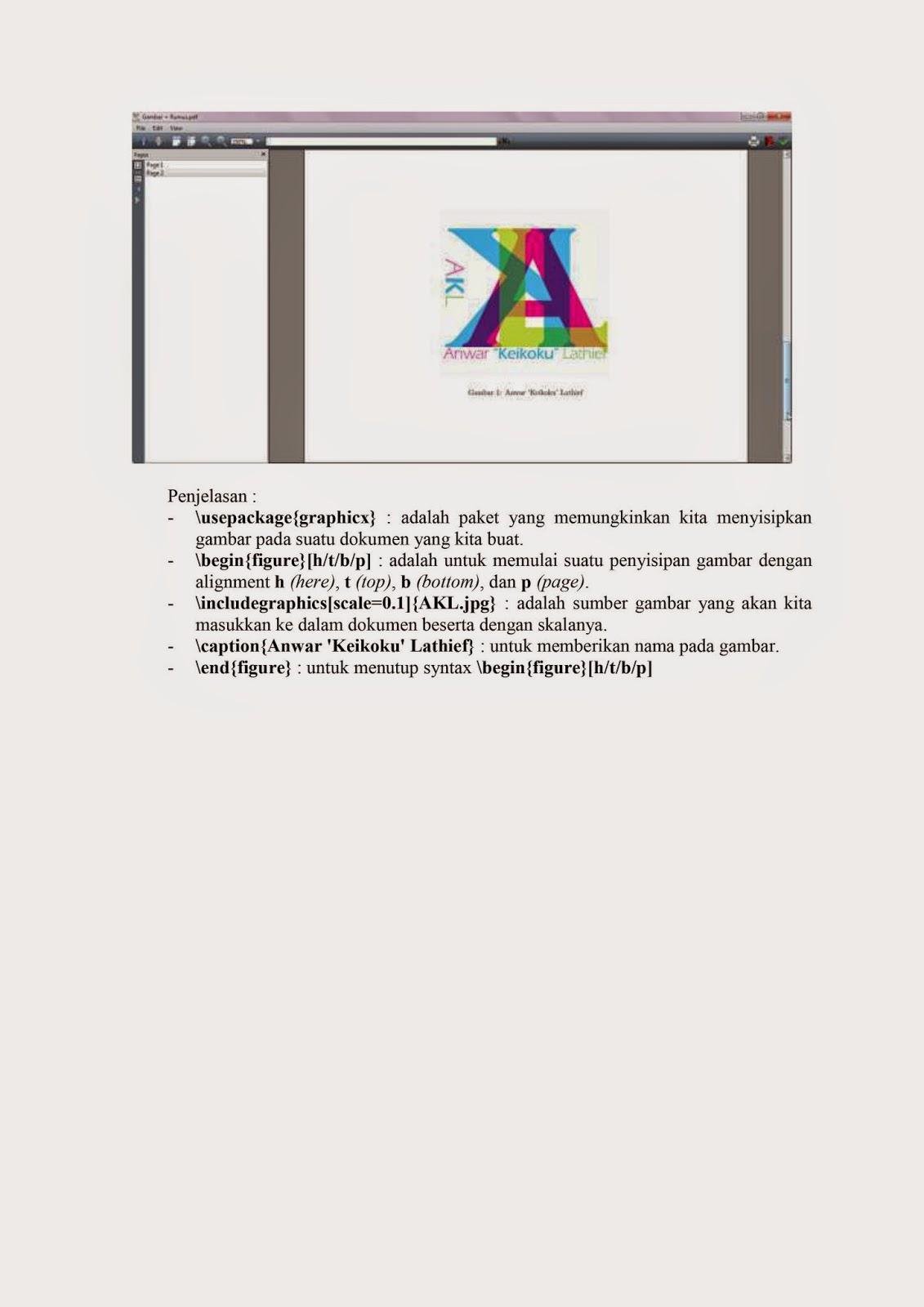 Latex, Laporan Akhir, Praktikum Gunadarma