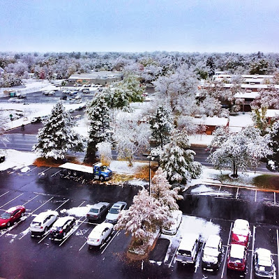 Winter in Fort Collins viewed from the Hilton Fort Collins Colorado