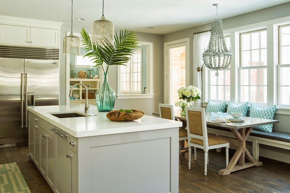 The Kitchen Sometimes Simply Needs A Little Touch In Vase On Island And Or Table This Beachy Fun Of Green