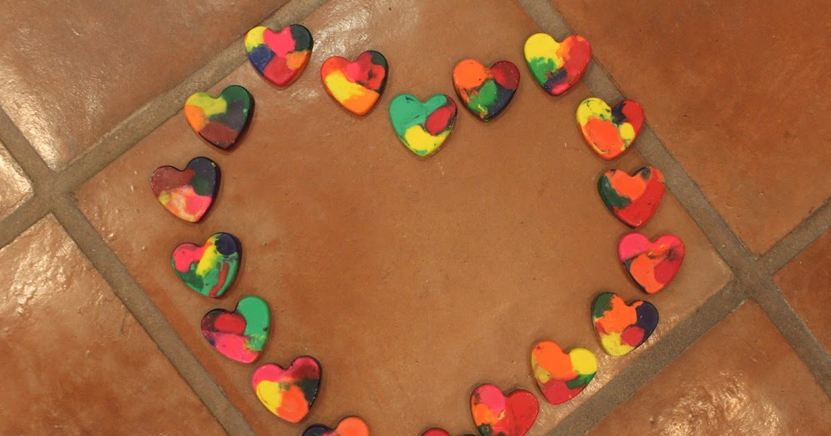 Keeping Up With The Kiddos Heart Crayons