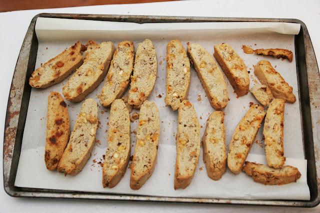 Cinnamon-Pecan-White Chip Biscotti :Homemade Ginger