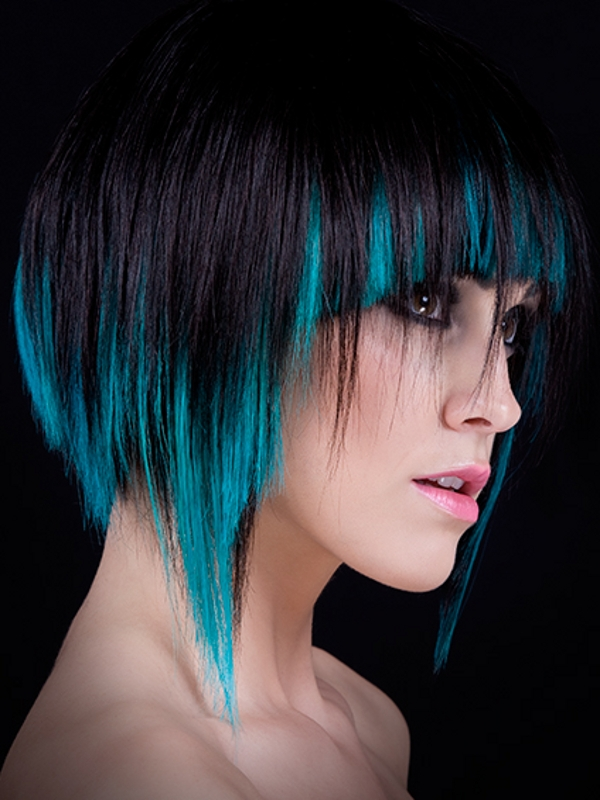 The Outstanding Crazy Punk Hairstyles For Women Purple Color Photo