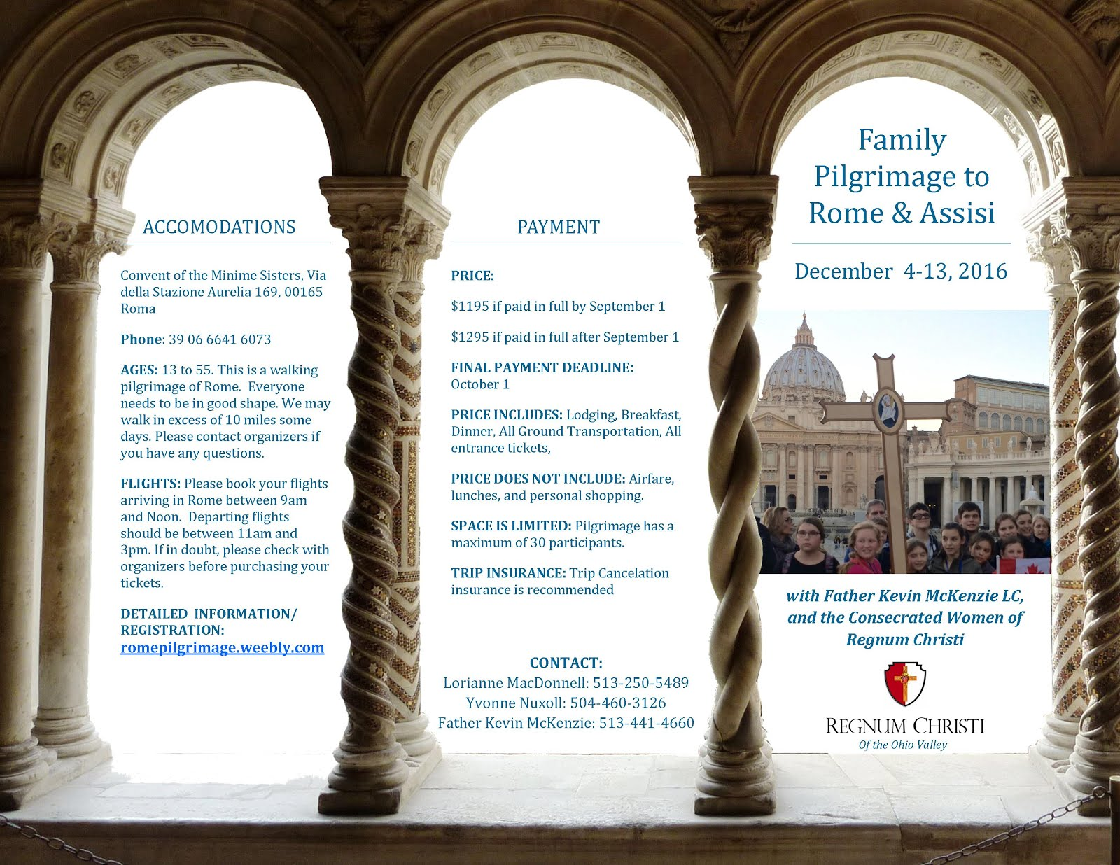 Join Father Kevin in Rome