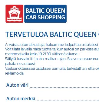 baltic queen car shopping, 22 tunnin risteily, risteily, tallinna, tutuksi