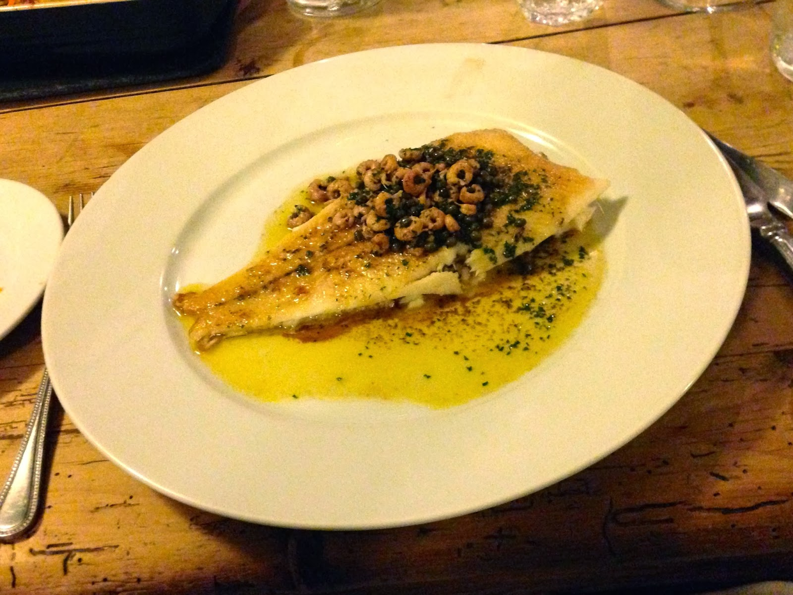 Whole lemon sole at Y Polyn