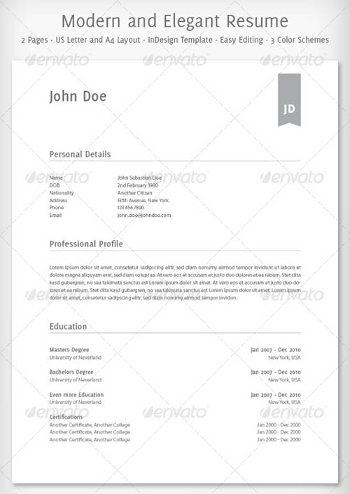 20 awesome resume cv templates how to microsoft