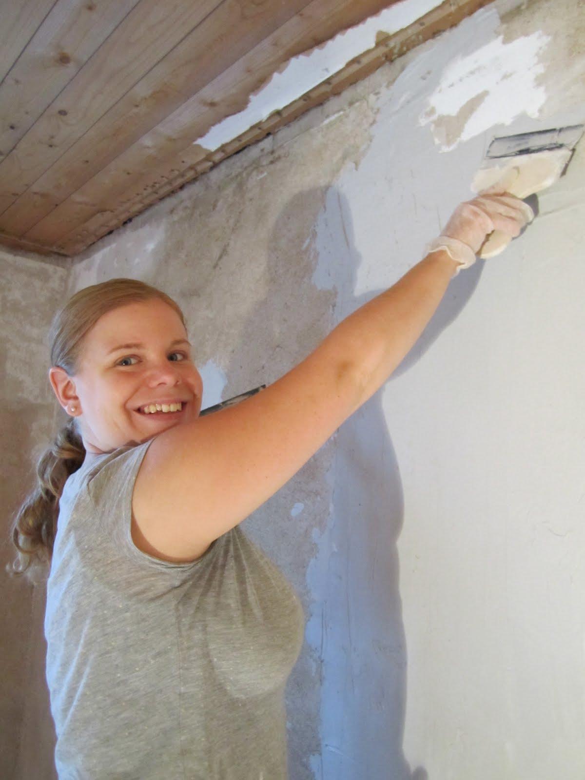 spackling av vägg